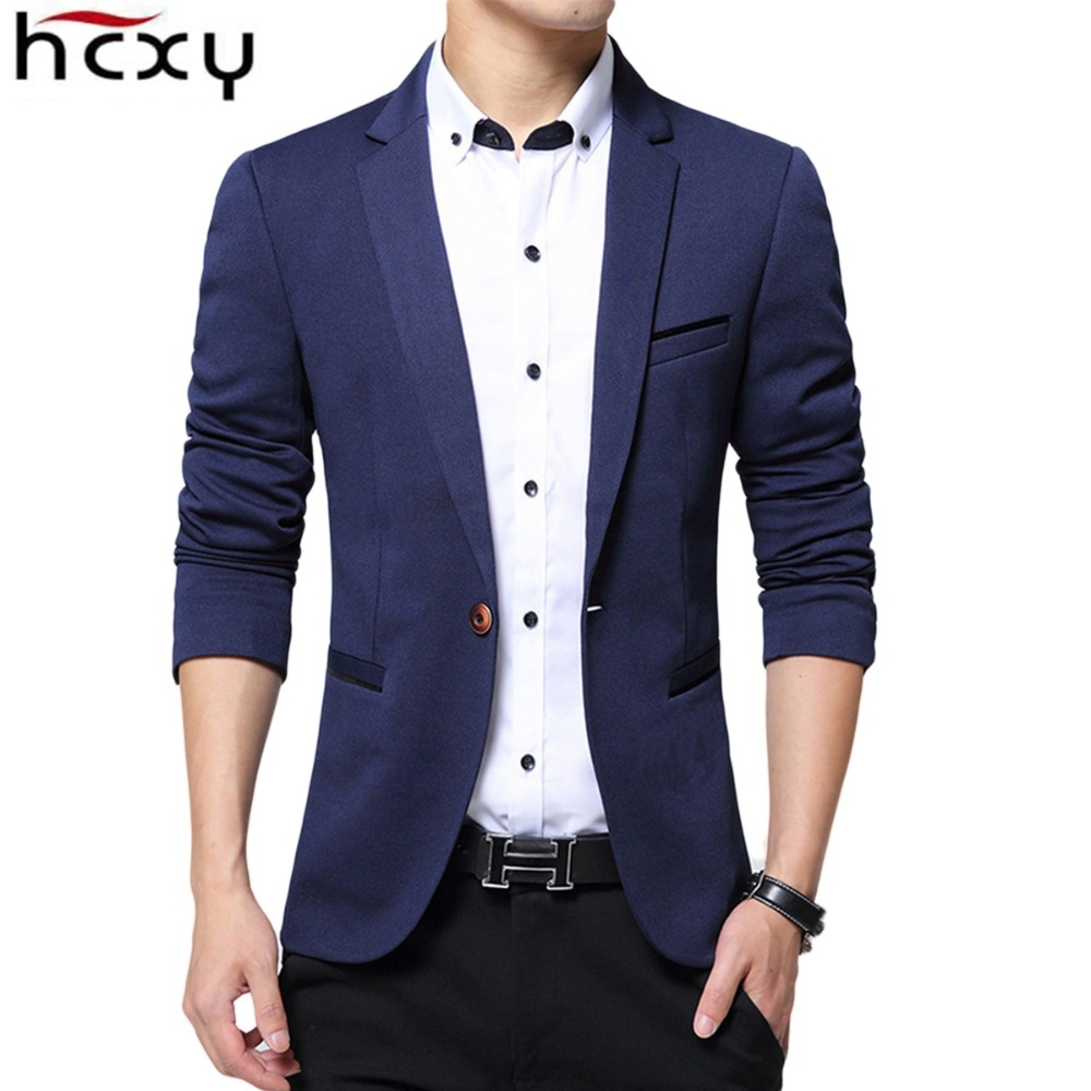 HCXY 2017 new Spring and autumn jackets Men 's Fashion Wedding dress Casual Suit