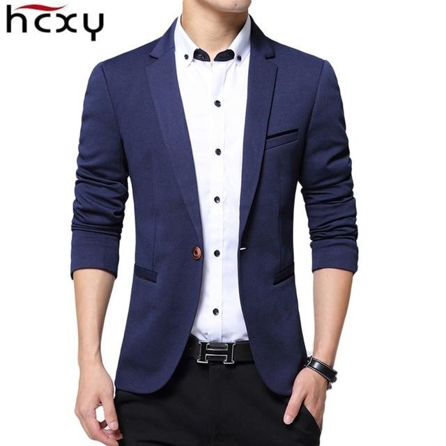 HCXY 2017 new Spring and autumn jackets Men 's Fashion Wedding dress Casual Suit Jacket Men blazer Male coats plus size 4XL 5XL
