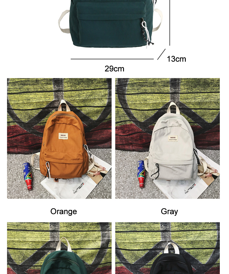 DCIMOR Solid color Women backpack Retro Fashion Waterproof Nylon Backpack School Bags For Teenagers Mochilas Travel Backpacks