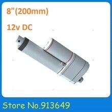 8 inch/200mm Stroke Actuador Lineal Con Potenciómetro de Posición Feeback, Capacidad de Carga de 12 V DC 750N, sin carga velocidad de 10 mm/s-1 UNID