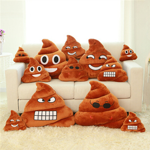 Funny Mini Cute emoji Pillow Emoticon Cushion Shape Pillow Doll Toy Throw Pillow Amusing Poo Shape