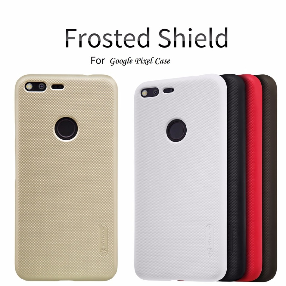 Case for Google Pixel Nillkin Frosted Shield PC Back Cover sfor Google Pixel Case 5.0'' GIft Screen Protector