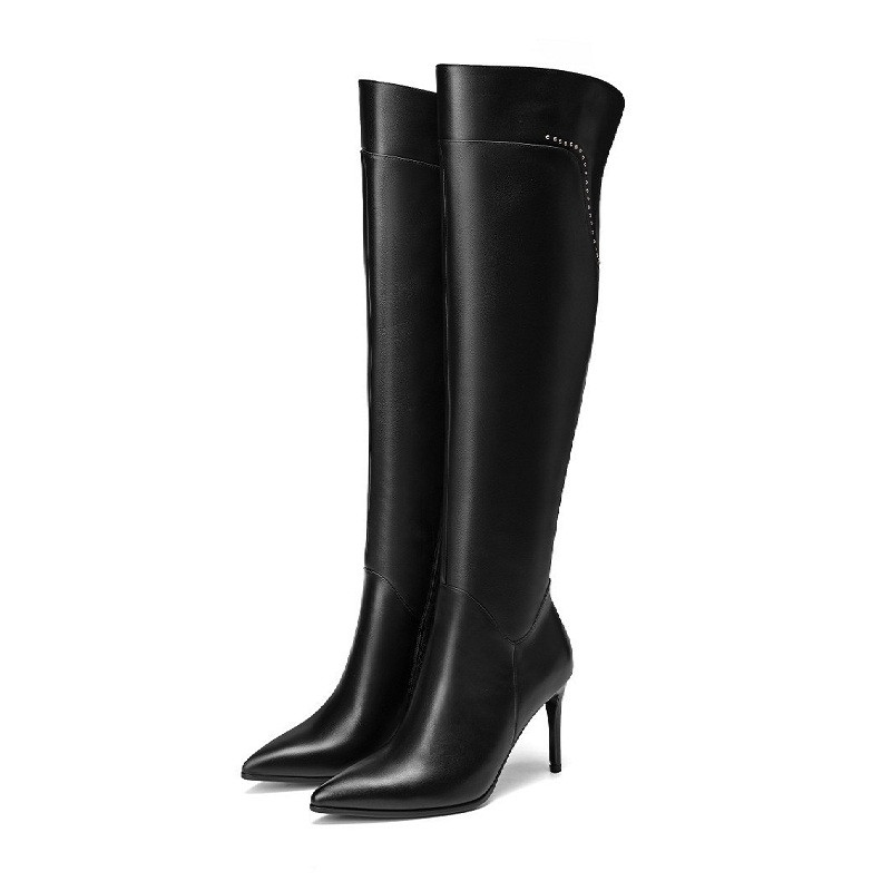 2019 autumn and winter new pointed high-heeled high-heeled high-heeled knee womens boots black ljj 04062019 autumn and winter new pointed high-heeled high-heeled high-heeled knee womens boots black ljj 0406
