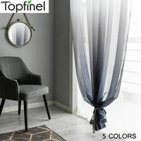 Topfinel хорошо продажа полуградиентные цвет занавески для гостиной спальни кухни современный Чистый тюль для окна домашний декор Штора для го...