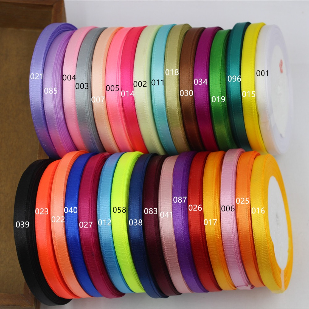 16691-A , 6mm 32 color can choose 25 Yards Silk Satin Ribbon , Wedding decorative ribbons, gift wrap, DIY handmade materials