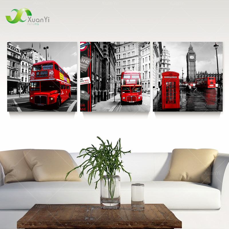 Aliexpress.com : Buy 3 Panel London Street Landscape
