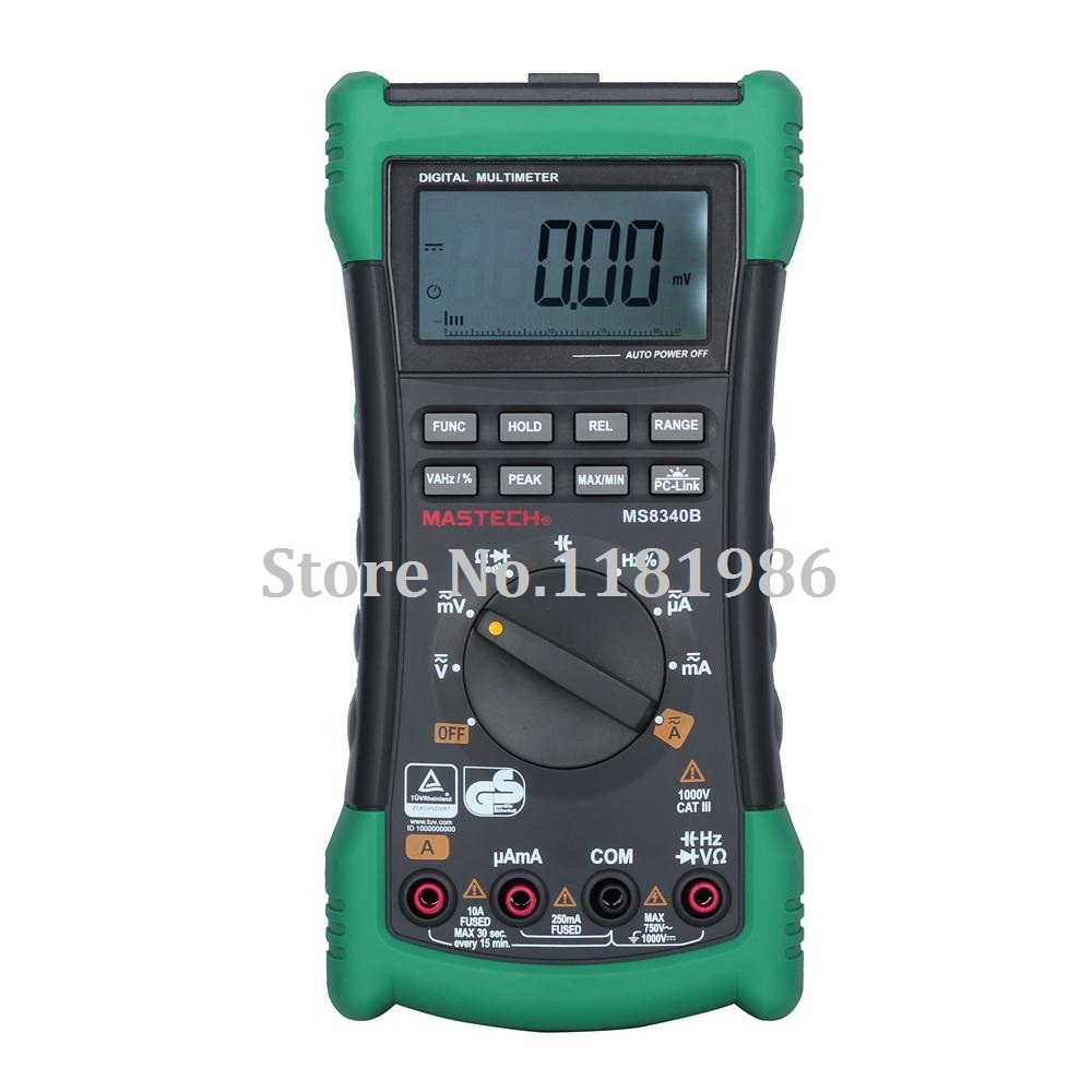 MASTECH MS8340B Digital Multimeter 22000 counts Auto Range True RMS DMM Capacitance Frequency Test USB Interface