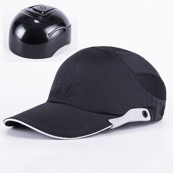 Gorra de seguridad negra para hombre con rayas reflectantes gorra de  protección de cabeza ligera y transpirable a06402883b3