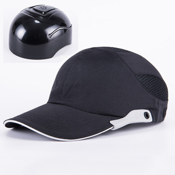 Men Black Safety Bump Cap With Reflective Stripes Lightweight and Breathable Hard Hat Head Protection - sale item Workplace Safety Supplies