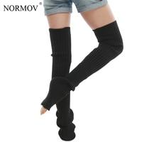 Normov sexy muslo Medias mujeres caliente largo Medias para la niña casual punto señoras sobre la rodilla Calcetines Venta caliente 4 Color