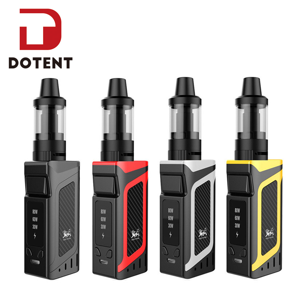DOTENT VK Vape Kit Shisha Pen Hookah 80W Starter Kit 2000mah Battery 510 Metal Body 3.5ml Atomizer Electronic Cigarette Vape
