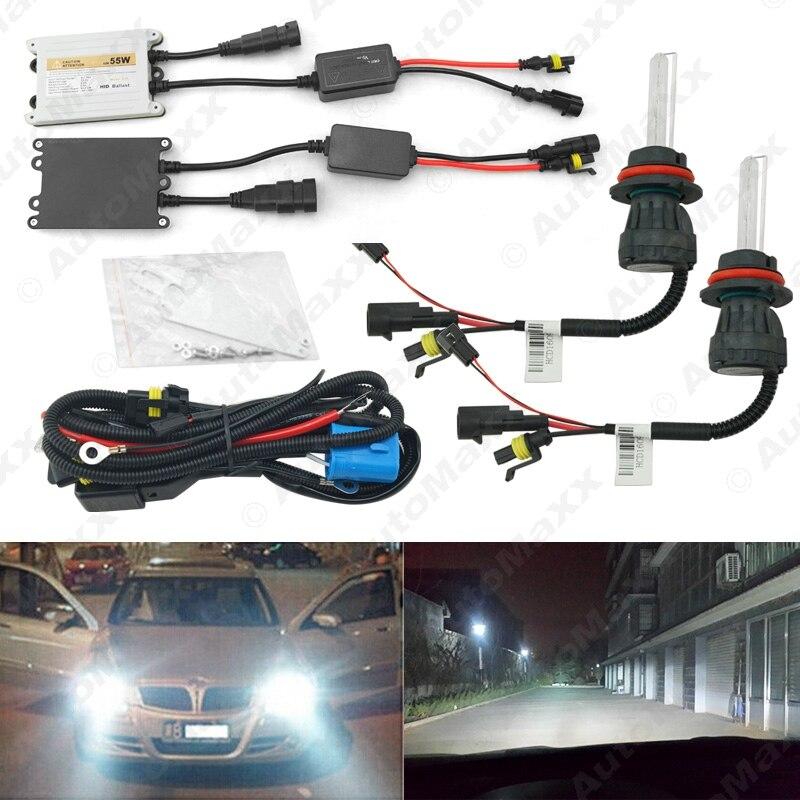 10Sets Car Headlight AC 12V 55W 9004/9007 Xenon Bulb Hi/Lo Beam Bi-Xenon Bulb Light Slim Ballast HID Kit #J-4480  car headlight hid xenon kit slim ballast 12v 35w dc h4 3 9004 3 9007 hi lo 9012 5012 h13 bi xenon hi lo