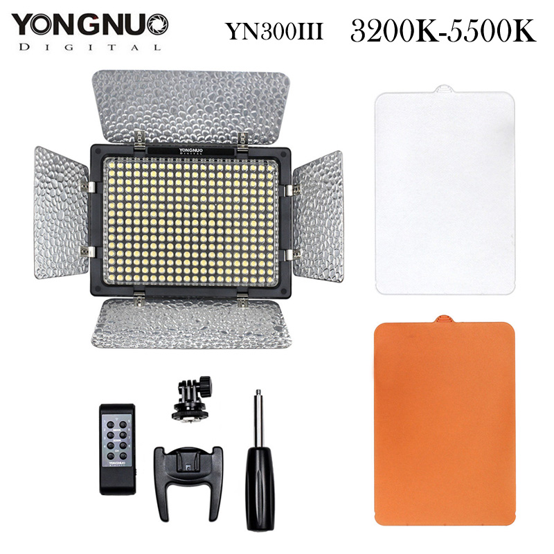 YONGNUO YN300 III LED Video Light 300 LED Lamp Lights Photographic Lighting 3200-5500K for Photo Studio DSLR Camera Camcorder