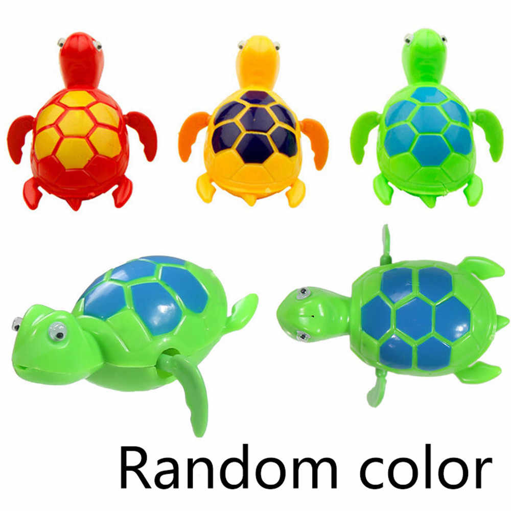 Juguetes de baño para niños divertidos juguetes de natación cadena tortuga bebé juguetes de baño regalo recién nacido juguetes de agua