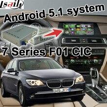 Android 6.0 cuadro de navegación GPS para BMW F01 7 series CIC sistema de interfaz de vídeo caja de espejo enlace youtube waze iGO yandex