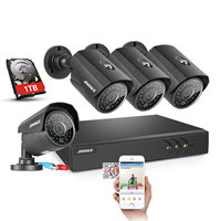 ANNKE 1080N 4CH 1080N Home Security HD DVR 4PCS 720P 1200TVL AHD CCTV Camera System 8