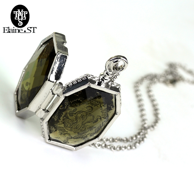 Horcrux Locket Glass Box Alloy Pendant Cool Necklaces Necklace Chain Decoration Charm Gift For Fans Cosply