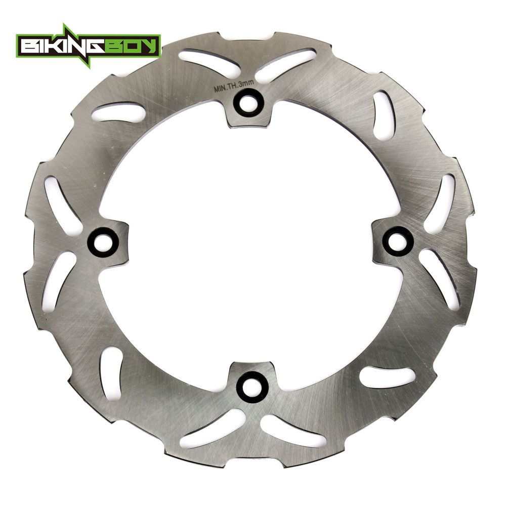 BIKINGBOY Motorcycle Front Brake Disk Disc Rotor for SUZUKI TS125 TS200 TS 125 200 DR250 DR 250 350 S R SE 89-98 90 91 92 93 94 motorcycle front rider seat leather cover for ktm 125 200 390 duke