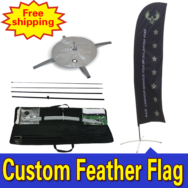 80cm * 410cm vlastní jednostranná propagační peří venkovní vlajky se základnami Drapeau de Plumes Fjader Flagg Hoyhen - Lippu