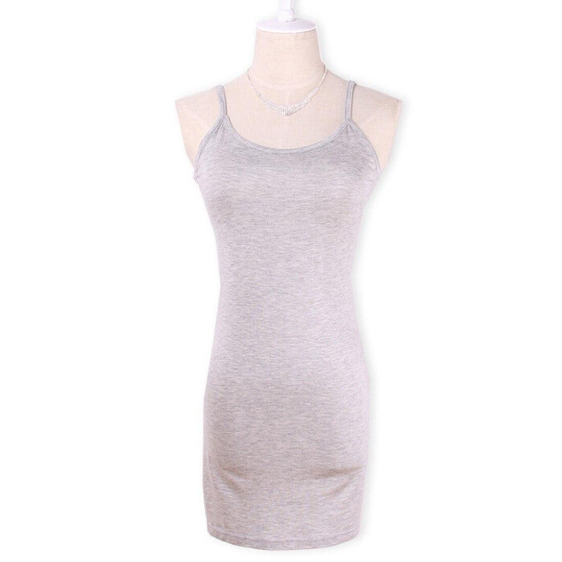 Новинка, Женская эластичная кофточка на бретельках, Длинный топ на бретелях, Мини Короткое платье, летнее повседневное сексуальное платье без рукавов для женщин - Цвет: light gray