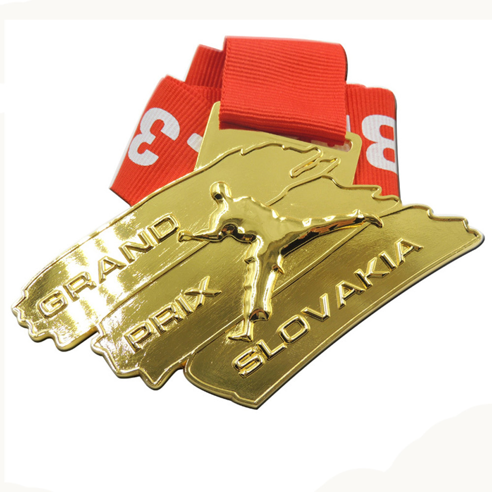 Environmental Wholesale Taekwondo Medal Customized Zinc Alloy Gold Medal in Non currency Coins from Home Garden