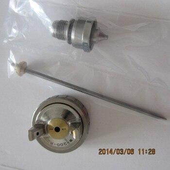 цена на free shipping,WA-101 WA-200 automatic spray gun (nozzle+needle+aircap set), WA101 WA200 paint spray nozzle,spray gun kit