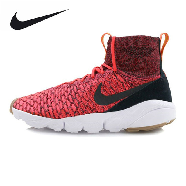regarder e5c4d 7081c NIKE AIR FOOTSCAPE MAGISTA FLYKNIT FC Men's Running Shoes ,Original Sports  Outdoor Sneakers Shoes, Red, Breathable 816560 600-in Running Shoes from ...