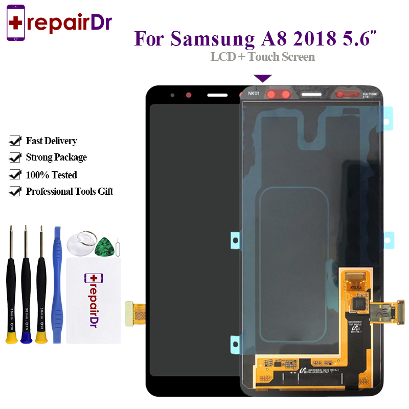 Original LCD Screen For SAMSUNG Galaxy <font><b>A8</b></font> <font><b>2018</b></font> LCD A530 A530F For Samsung <font><b>A8</b></font> <font><b>2018</b></font> LCD <font><b>Display</b></font> Touch Digitizer Replacement image