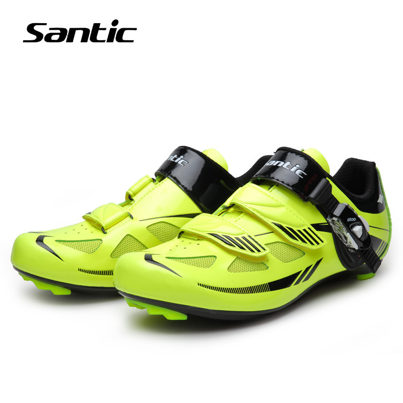 Santic Cycling Shoes Men Nylon Road Bike Shoes Breathable Self-Locking Sneakers Bicycle Shoes Zapatillas Ciclismo santic men pro cycling shoes road bicycle shoes breathable