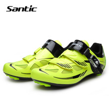 Santic Cycling Shoes Men 2018 Pro Racing Team Road Bike Shoes Breathable Riding Self-Locking Sneakers Bicycle Shoes Equipment