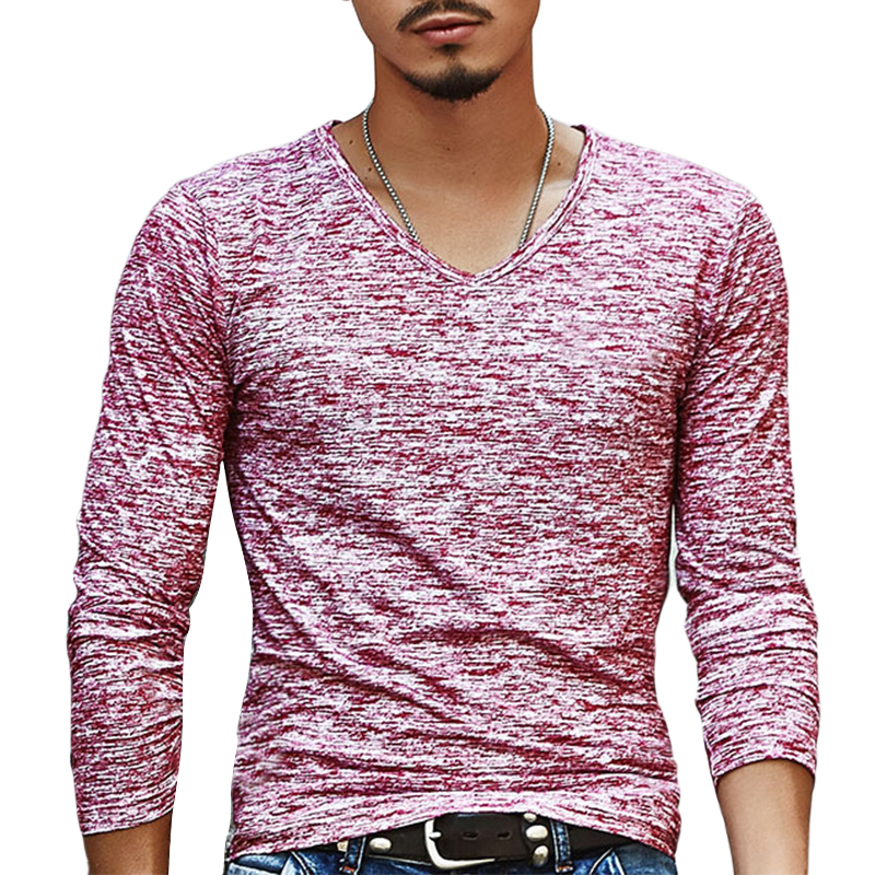 Trendy Summer Men T Shirt Casual Long Sleeve