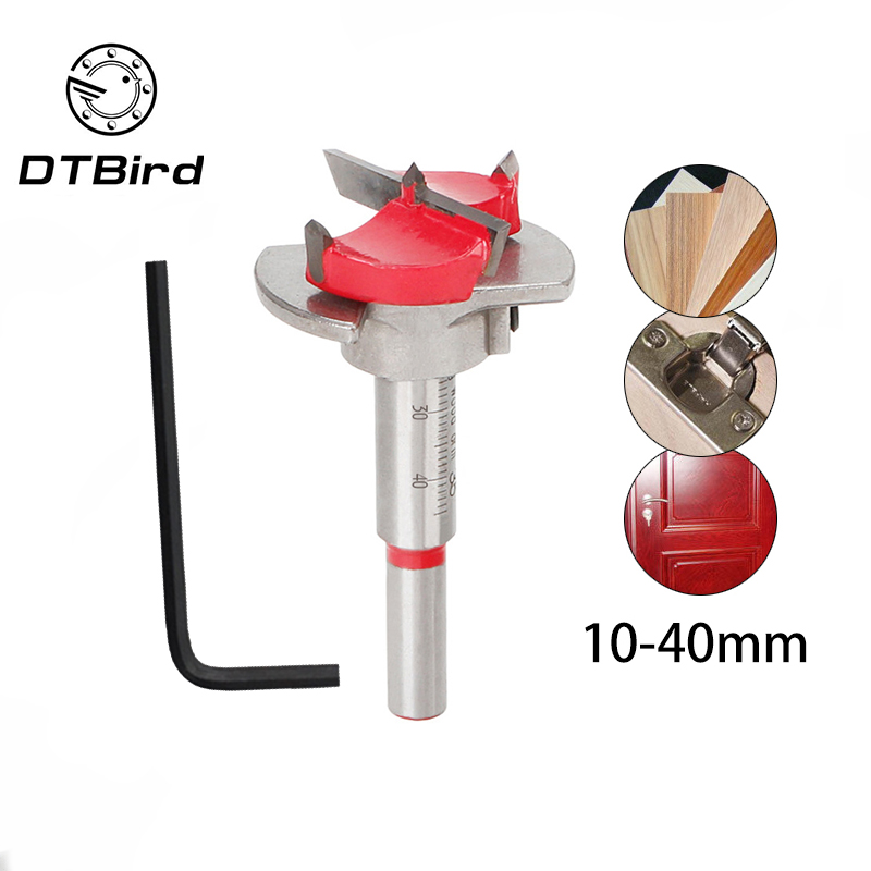 35mm Forstner Auger Drill Bit Wooden Cutter Hex Wrench Woodworking Hole Opener Saw Woodwork Core Milling Cutter Hinge Hand Tools
