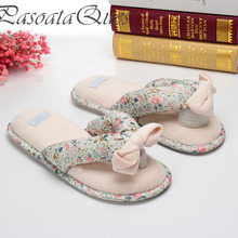 Cotton Floral Slippers Indoor Spring Home House Flip Flops Women Shoes Spring Summer Slides Pasoataques Brand Asspfct058