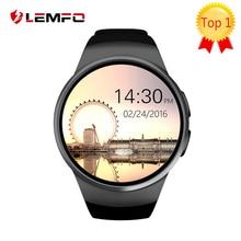 Kw18 smart watch teléfono sim soporte de tarjeta tf monitor de ritmo cardíaco mtk2502 smartwatch para apple gear s2 android ios teléfono