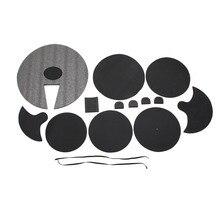 Drum Silencer Pad Snare Silencer Drum Mute Set Dumb Drum Pad Set