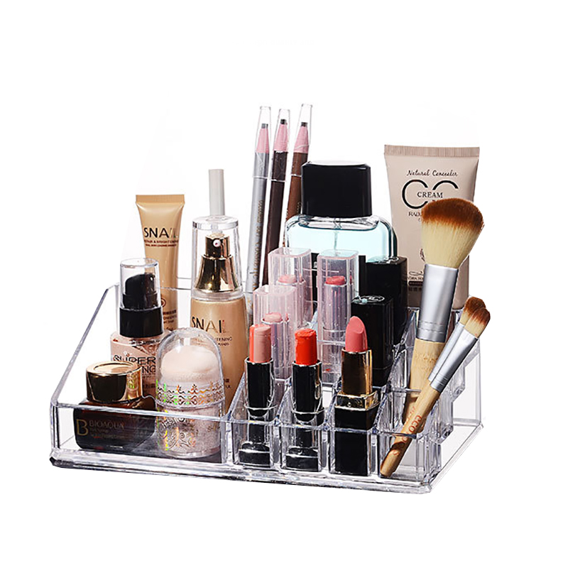 Fashion Practical Cosmetic Container Desktop Acrylic Makeup Organizer Stationery Organizer Toiletry Storage Box For Decorations