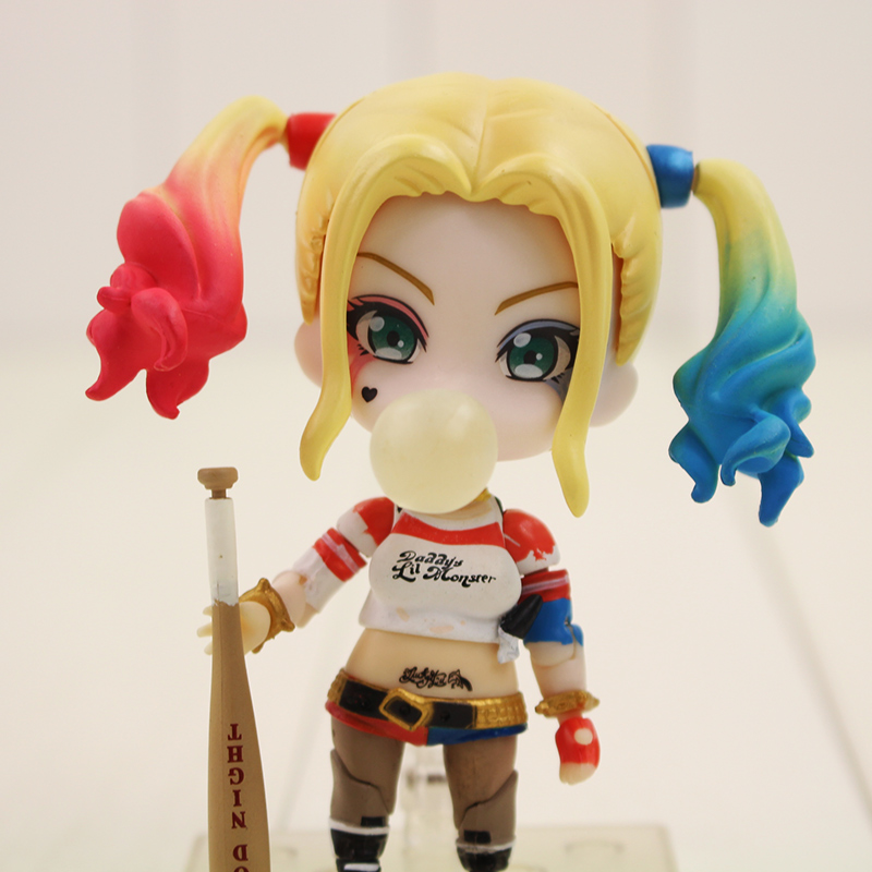 9cm Q Version Harley Quinn 672# PVC Action Figure Anime Suicide Squad Cool Girl Figure Collcetible Toys Doll for birthday gifts