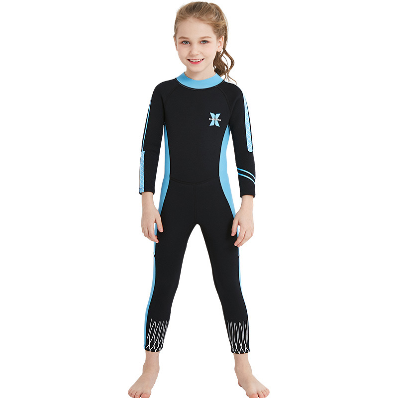 GI FOREVER Girl Long Sleeve One Piece Suit 2018 New Children Diving Swimsuit Kid Surfing Swimwear Bathing Suit Maillot De Bai