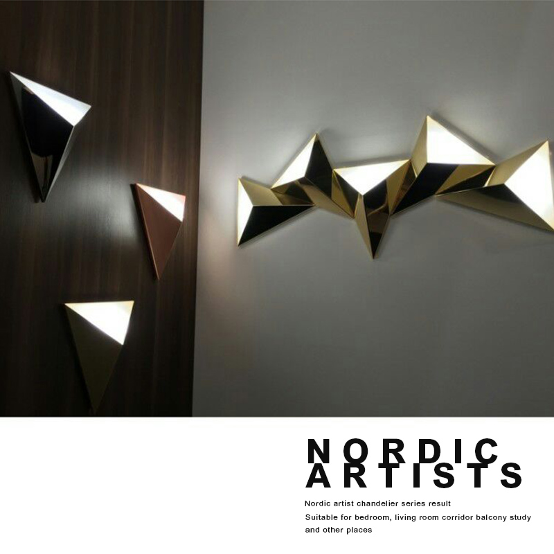 Modern Led Wall Lamp 3W Aluminum Body Triangle Wall Light For Bedroom Home Lighting Luminaire Bathroom Light Fixture Wall Sconce new modern led aluminum wall light 3w bedroom light lamp bedside reading lamp study wall lighting garden light for home decorate