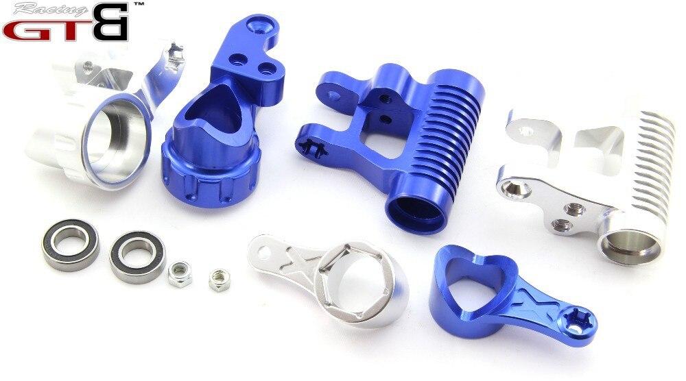 GTBracing losi 5 dyrektywy t produkcja CNC aluminium układ kierowniczy w Części i akcesoria od Zabawki i hobby na  Grupa 1