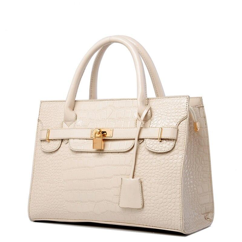 Luxury Designer Crocodile print font b Handbag b font Classy Lock Belt Women Classy Elegant Hand