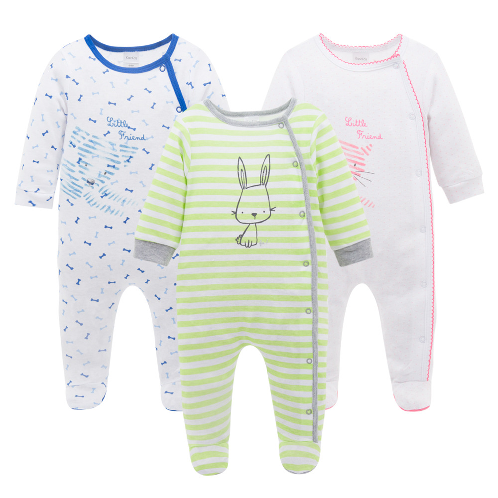 2017 manufacturers of infant clothing cotton long sleeved newborn Romper Jumpsuit cartoon infant climbing clothes the spring and summer of 2018 newborn baby clothes jumpsuit romper cotton short sleeved