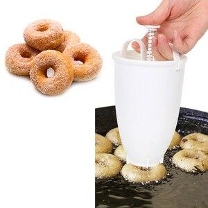 Пресс-форма для глубокой жарки, арабский вафельный ручной пластиковый легкий пончик, вафельный дозатор, машина для пончиков, легкая, быстрая, портативная