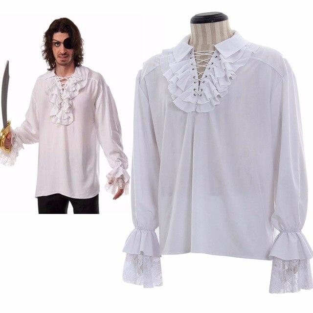 Hombre Renacimiento De Camisa Colonial Gótico Vampiro Medieval k80OnwPX