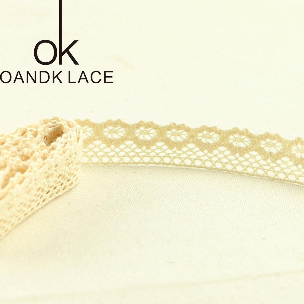 HTB1AUzEGqSWBuNjSsrbq6y0mVXaX 4YARD Apparel Sewing Fabric DIY Ivory Cream Black Trim Cotton Crocheted Lace Fabric Ribbon Handmade Accessories Craft 11021
