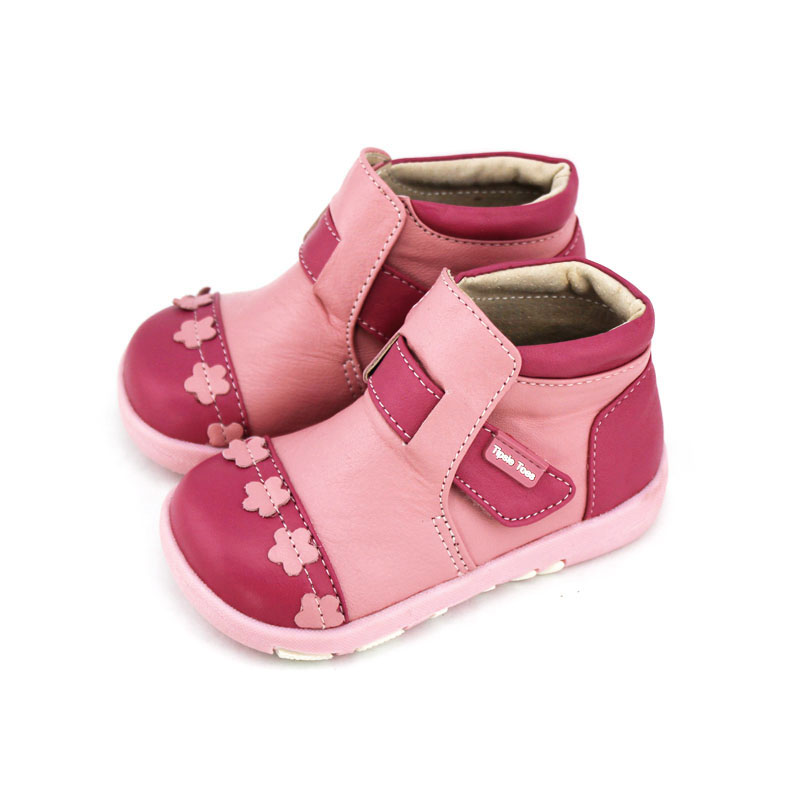 TipsieToes Brand Floral Sheepskin Leather Kids Children Boots Shoes For Girls Princess New 2017 Winter Fashion14001 tipsietoes brand casual sheepskin baby kid toddler shoes moccasins for girls first walkers 2016 autumn spring fashion 63310