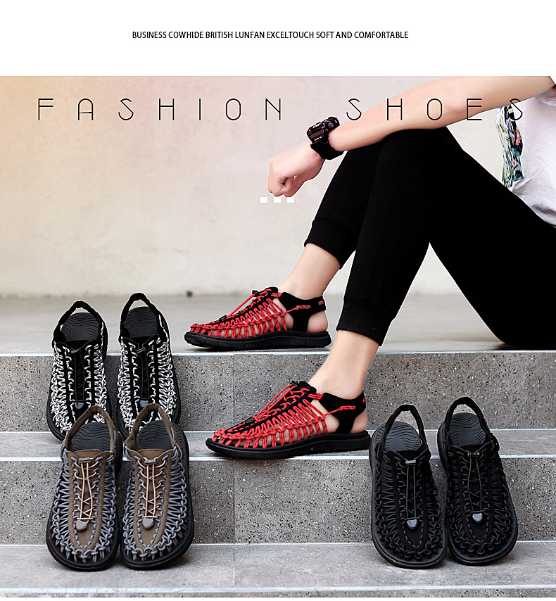 SERENE Brand2019 Summer Men Sandals Weaves Breathable Shoes Casual Sandals Fashion Design High Quality Comfortable Casual Sandal (3)
