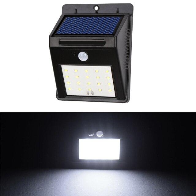 Aliexpresscom Buy Solar Powered LED Garden Light PIR Motion