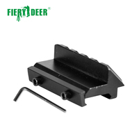 Fiery Deer Tactical 4 Slot One Side 45 Degree Angle Offset 20mm Rail Mount for Weaver Picatinny Rail Caza Hunting Accessories