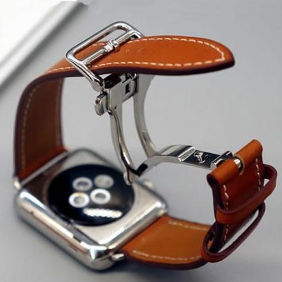 Bracelet de montre pour montre Apple Seires 4 5 40-44mm Bracelet en cuir véritable pour Bracelet de montre herm Apple série 1 2 3 bracelets de montre iWatch